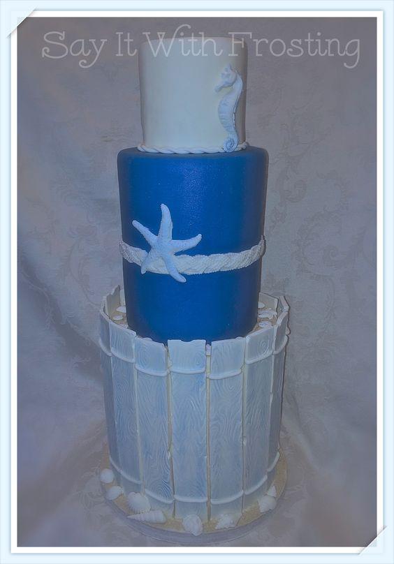 Pensacola Wedding Cakes Custom Beach Themed Cake Designed For A Bridal Show At The
