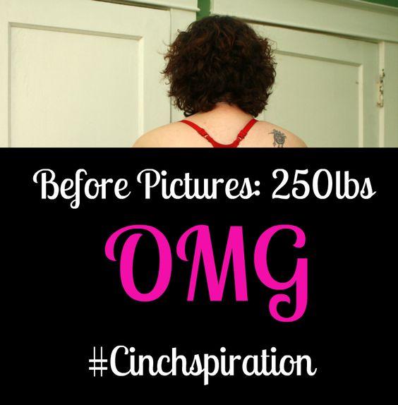 Following along as my friend publicly shares her #cinchspiration weight loss journey #fitness