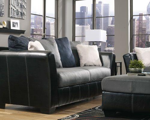 """Rent Furniture Ashley """"Masoli Cobblestone"""" Sofa"""