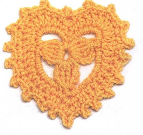 Crochet Heart Motif. More Great Looks Like This