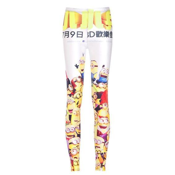 Hot sale design women gym sport leggings brand running leggins 2016 3D print minions jegging femme skinny slim leggings Price: US $9.99 / piece