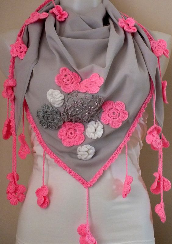 Lace Scarf Valentine's Day Gift Scarf by MissSelinAccessories