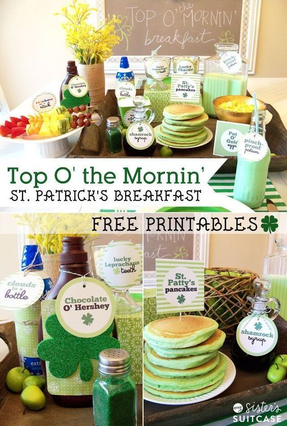 Ideas for breakfast on St. Patrick's Day! Your kids will love this fun breakfast ...