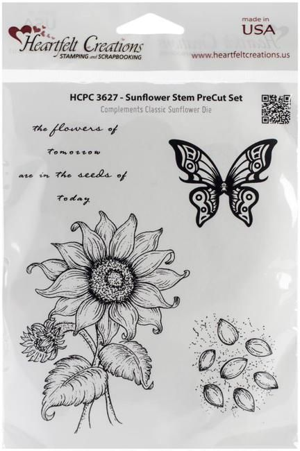 Sunflower Stem - Cling Rubber Stamp
