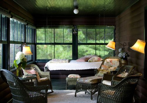 traditional porch by Sethbennphoto  I love the hanging bed