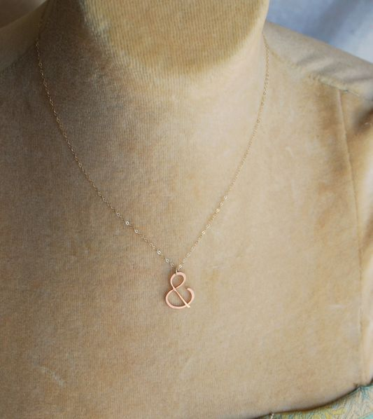 "Rose gold ""&"" Necklace"