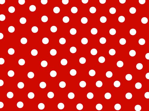 Red Heart Polka Dot Background