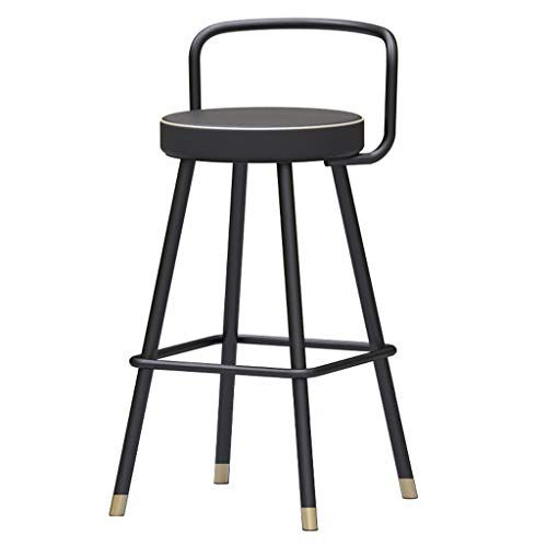 Fashion Wrought Iron Bracket Bar Stool Kitchen Breakfast Stool Chair Black Leg Design Sitting Height 50 55 60 65 70 75 Iron Stools Bar Stools Hollow Design Black wrought iron bar stools