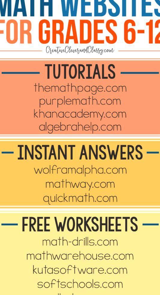 Free Stem Wes For Grades 6 12 Middle School And High School Math Websites Homeschool Math Teaching Stem