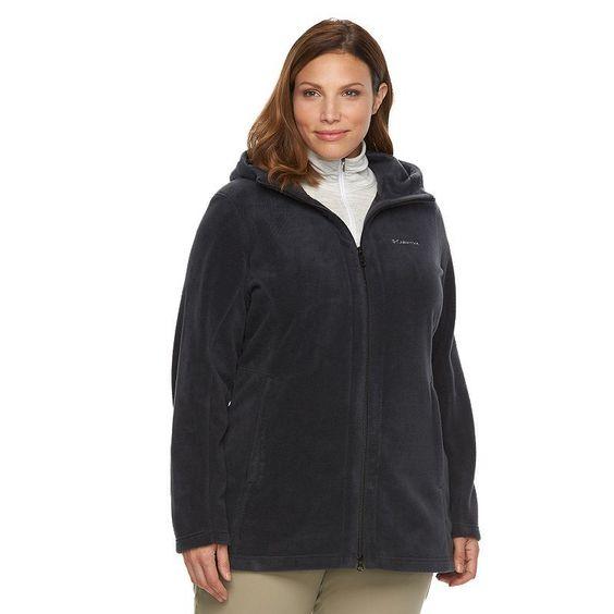 Plus Size Columbia Three Lakes Hooded Long Fleece Jacket, Women's ...