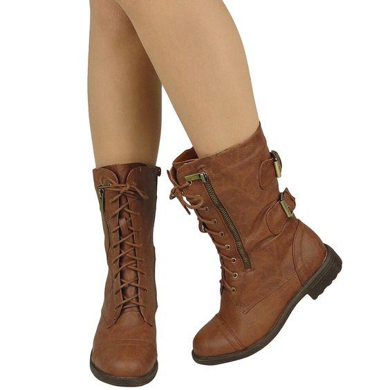 esté son botas de combate. son largos y marrón. me gustaría llevar estos a la escuela