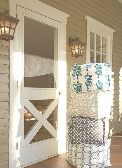 Cottage screen door home decor pinterest cottages for Wooden back door and frame