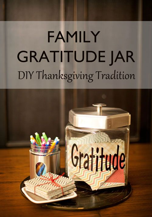 Make this Family Gratitude Jar and see the magic that happens within your family this Thanksgiving season: