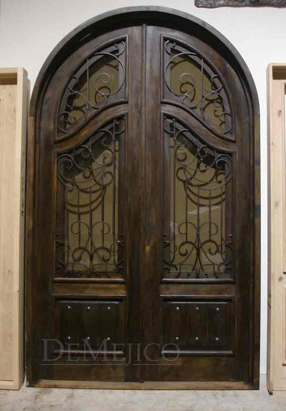Spanish Arched Double Entry Doors Puerta Jay Jumbo