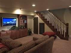 cozy, simple basement