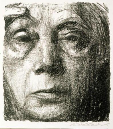 Käthe Kollwitz Self-Portrait (Selbstbildnis) 1934: