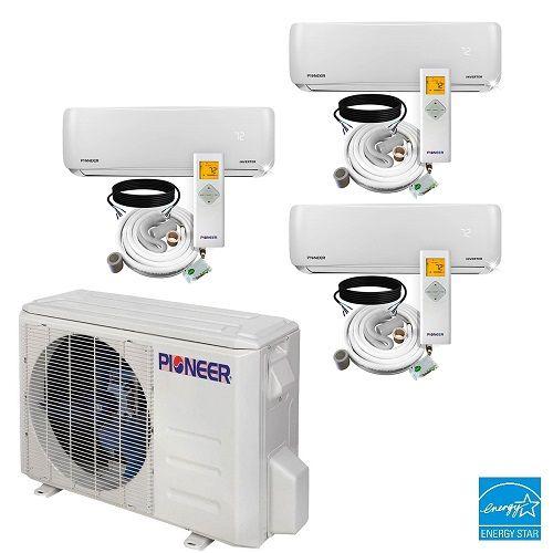 Tri 3 Zone Ductless Mini Split A C Heat Pump 12000 12000 12000