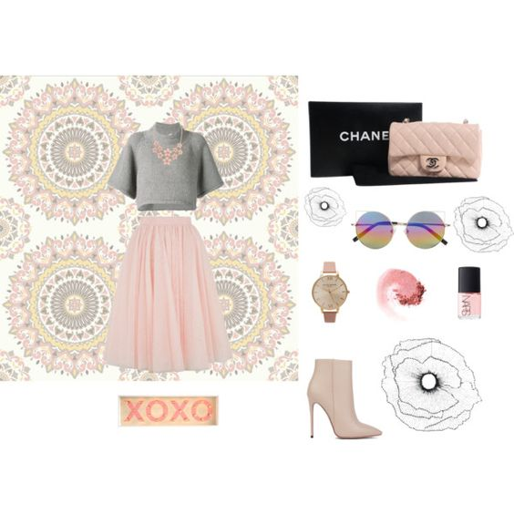 Untitled #22 by sammy-peach on Polyvore featuring polyvore, fashion, style, CO, Ted Baker, Akira Black Label, Chanel, Olivia Burton, Linda Farrow, NARS Cosmetics and Home Decorators Collection