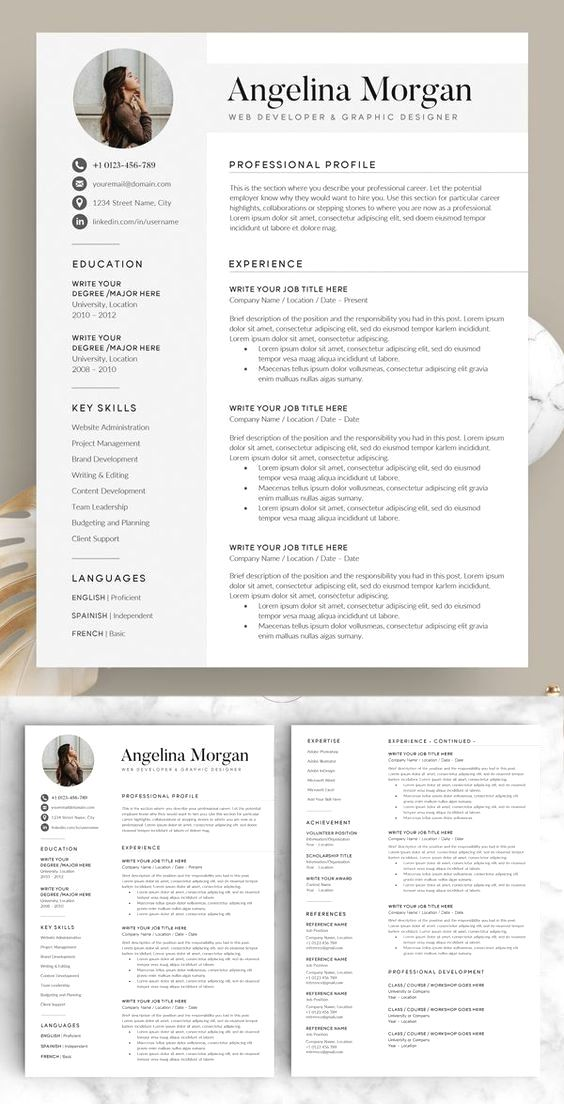 Resume Template Cv Template Professional And Creative Resume Design Cover Letter For Ms Word In 2020 Resume Design Creative Resume Design Resume Template Word