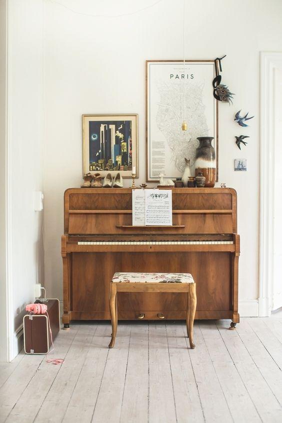 Inspiration couleur d 39 automne banc de piano salles de for Decoration keyboard