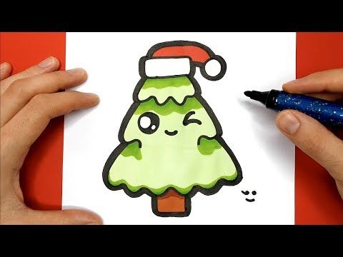 Tuto Comment Dessiner Un Sapin De Noël Kawaii Youtube
