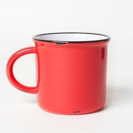 Faux Tin Ceramic Mug