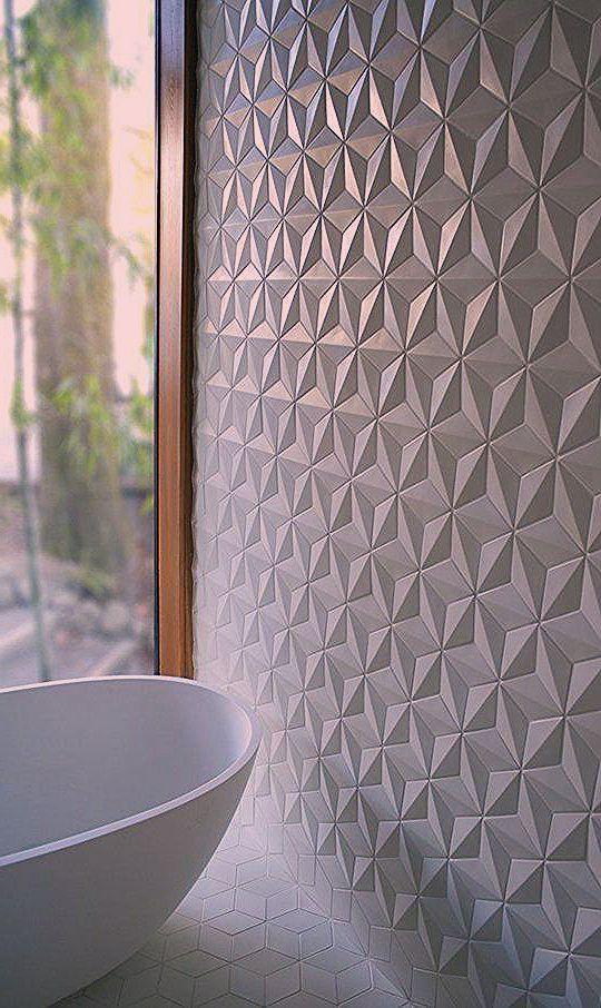 Badezimmer Fliesen Mit Geometrischer Struktur Badezimmer Fliesen Ideen Badezimmer Fliesen Weisse Badezimmer