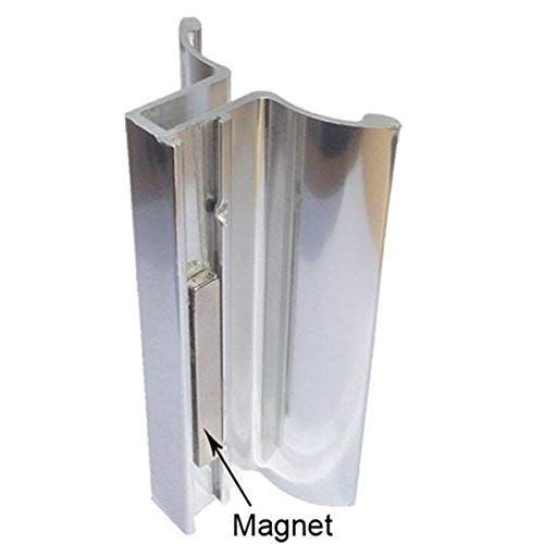 Bright Chrome Frameless Shower Door Handle With Magnet Review Shower Door Handles Frameless Shower Frameless Shower Doors