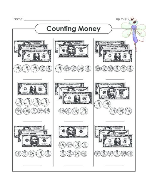 Count coins by using running totals. (We have money worksheets for ...