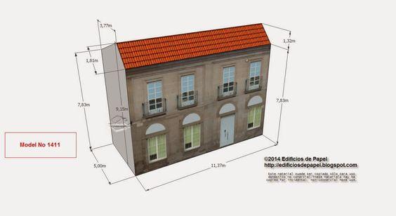 """Model 1411 - Edificio Banco Pontevedra Avda.  Series  """"Ourense"""" - """"Ourense"""" series. All scales available"""