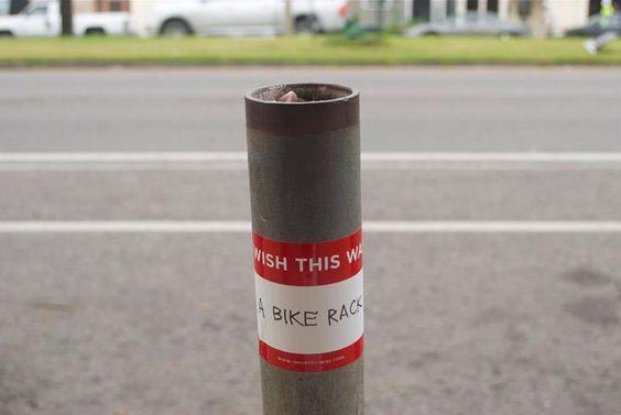 I wish it was a bike rack.