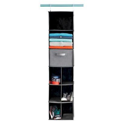 Room Essentials™ 9-Compartment Hanging Closet Organizer - Black - Target