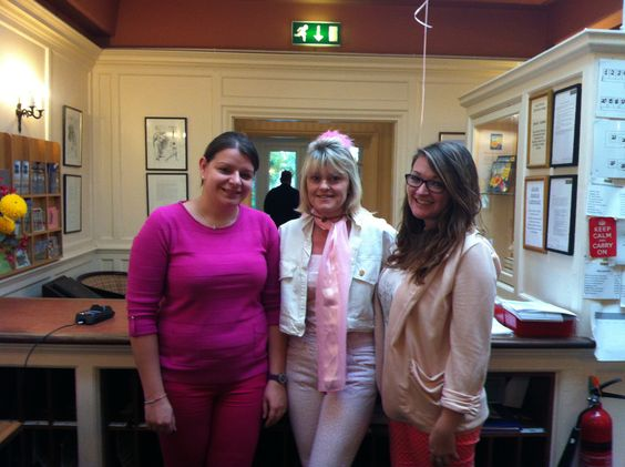 Our Reception Staff all in PINK!