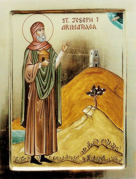 Righteous Joseph of Arimathea in Glastonbury. He traveled there following the Lord's Passion and Resurrection. (Jul 31)