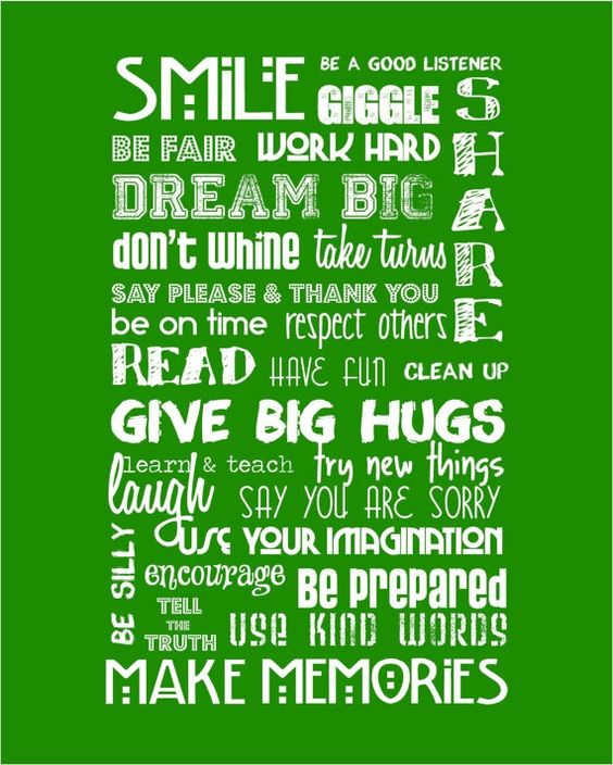 Classroom Rules - Kelly Green and White -  16x20  $35.00, via Etsy.