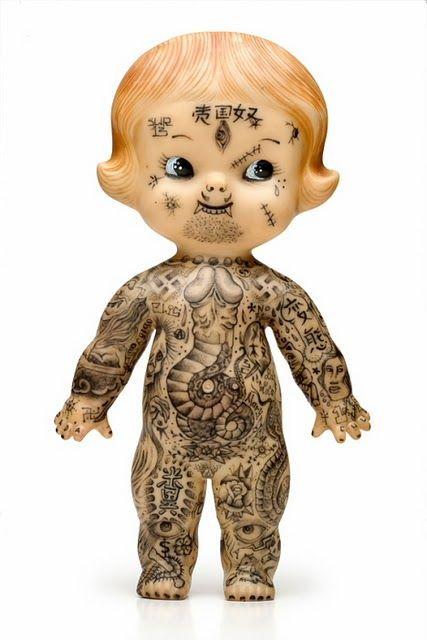 Dr. Lakra: inked dolls