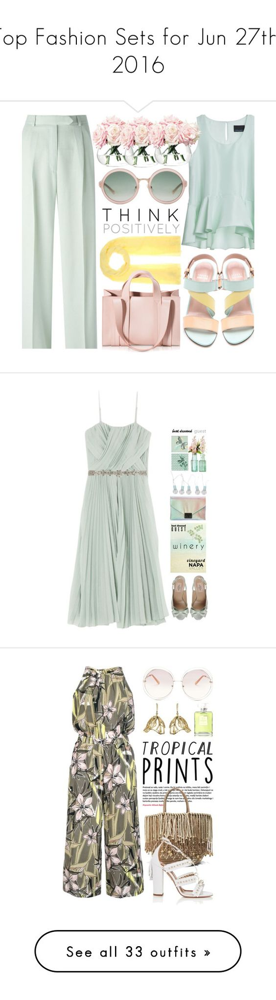 """""""Top Fashion Sets for Jun 27th, 2016"""" by polyvore ❤ liked on Polyvore featuring Stuart Weitzman, Jardin des Orangers, Cynthia Rowley, John Galliano, Corto Moltedo, LSA International, 3.1 Phillip Lim, pastel, Designs by Lauren and Valentino"""