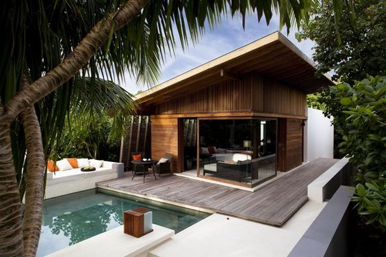 I can be very relaxed in a place like this