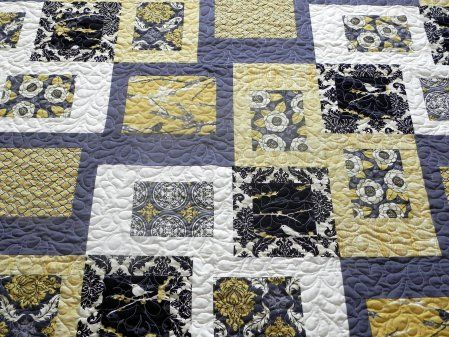 Another way to highlight fabrics with an interesting pattern from the Modern Quilt Guild.