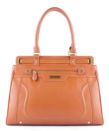 Nice!  Take a look at this Cognac Large Chelsea Satchel by Danielle Nicole on #zulily today!
