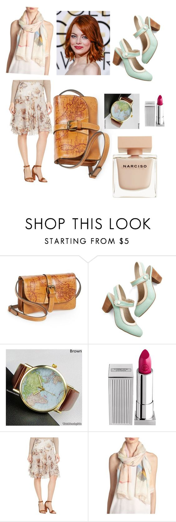 """""""La La World"""" by paula-maria-1 ❤ liked on Polyvore featuring Patricia Nash, Chelsea Crew, Lipstick Queen, Lauren Ralph Lauren, Kenzo and Narciso Rodriguez"""