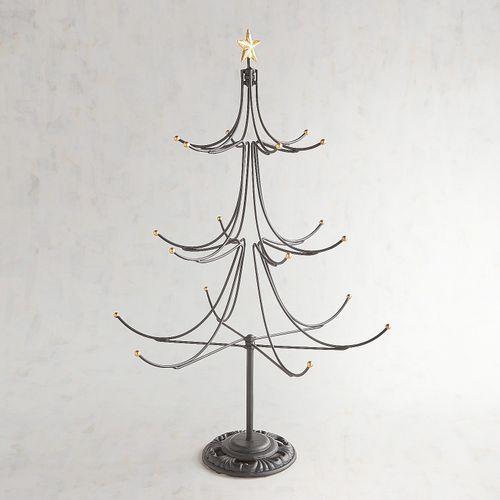 25 Iron Christmas Ornament Tree Stand Metal Tree Metal Tree Wall Art Metal Christmas Tree