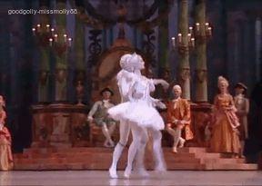 Aurelie Dupont and Manuel Legris in the Paris Opera Ballet's Sleeping Beauty
