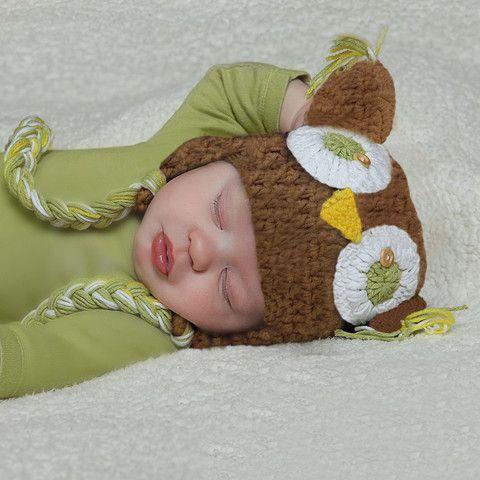 Sweet Crochet Owl Hat - Tan #Melondipity
