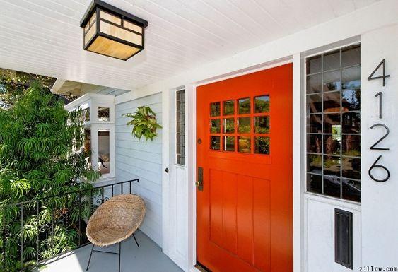 Rust Orange Door