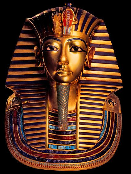 masque funéraire en or du pharaon toutankhamon