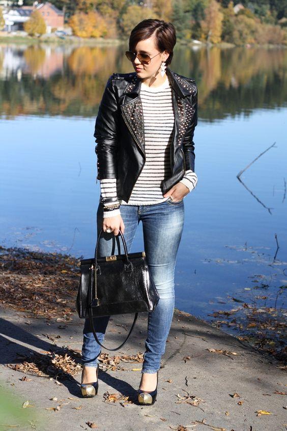Astérisque: studded leather jacket