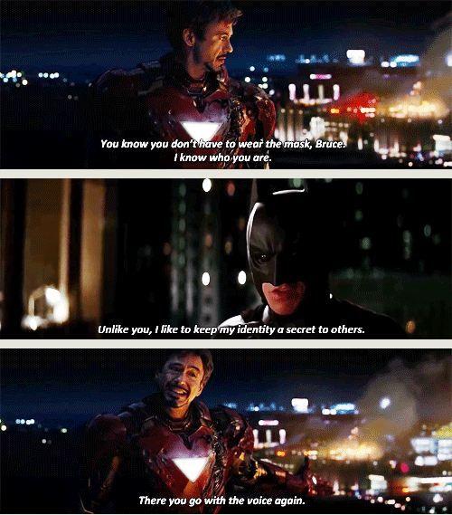 nananannanannanana batman superman downey jr robert downey ironman vs favorite anecdotes heroes funny iron man avengers vs dc batman iron man fanboy