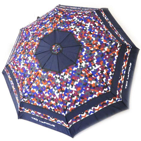 Parapluie automatique 'Ted Lapidus' marine violet
