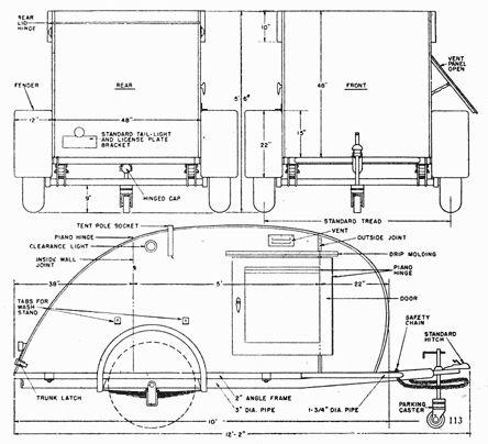 Teardrop plans free plans pinterest teardrop camper for Free trailer plans